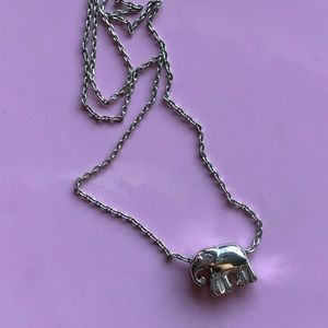 Jewelry - Sterling Silver Classic Elephant Pendant Necklace